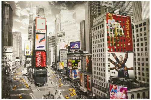 1art1 51481 New York - Times Square, Werbeplakate Taxis Flier 91 x 61 cm