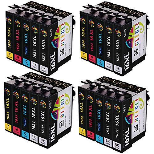 GLEGLE 16XL Cartuchos Tinta 20 Multipack Reemplazo