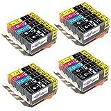 20x Premium kompatible Tintenpatronen ersetzt Canon PGI 520, CLI 521 für Pixma MP 540, 550, 560, 620, 630, 640, 980, 990