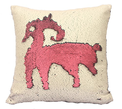 livedeal-two-color-paillette-reversible-sequins-mermaid-pillow-cases-16-x-16-red-and-beige