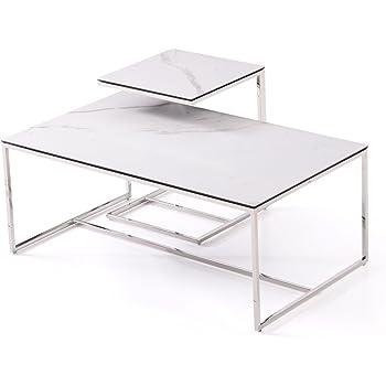 Massimilano Grau Couchtisch Wohnzimmertisch Mit Keramik Tischplatte