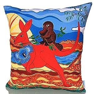 Sunburst Outdoor Living 60cm x 60cm AUSSIE Federa decorativa per cuscini per divano, letto, sofà o da esterni - Solo federa, no interno