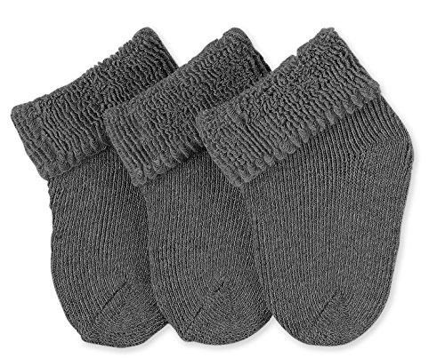 Sterntaler Unisex - Baby Socken Erstlingssöckchen, 3er Pack, Gr.0,(Neugeborene) Grau (anthrazit melange 592)