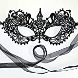 Gorgeous All Lace Goddess Black Masquerade Mask by Samantha Peach