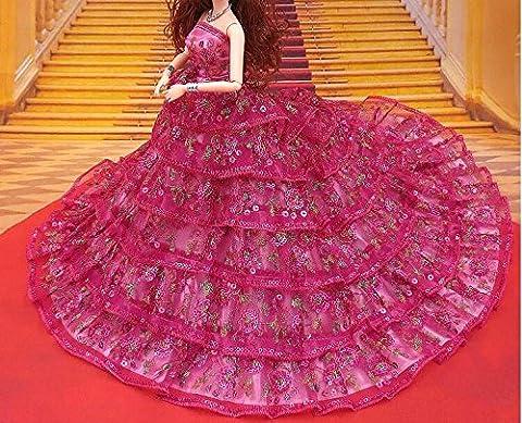 Youvinson Verschiedene Handmade Brautkleider und Kleider für Barbie-Puppen ( Rose)