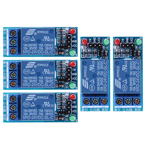 5Pcs 24V 1 Kanal Relaismodul Opto Panel Schild für PIC AVR DSP ARM -