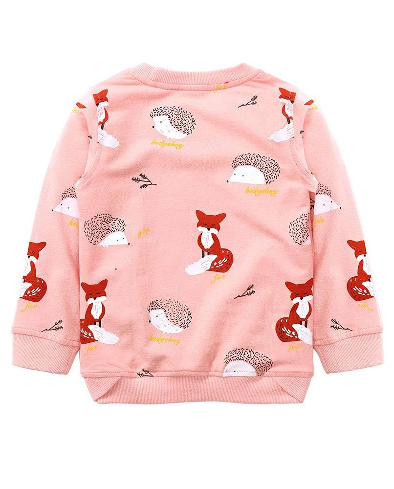 Toddler Kids Baby Girl Long Sleeve Letter Print Sweatshirt Casual Shirt Pullover Jumper Tops Sweater