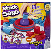 Kinetic Sand 6047232, Sandisfying Set with 906 g of Sand and 10 Tools, for Kids Aged 3 and Up, Multi Colour