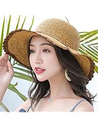 MEI XU Sombreros de Sol de Las Mujeres Sombrero de protección Solar UV  Visera Parasol Plegable 05a114104c5