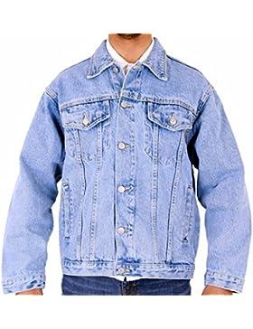 Para hombre Aztec Casual chaqueta vaquera Stonewash Lightwash negro S M L XL 2X L 3X L 4X L 5X L 6X L