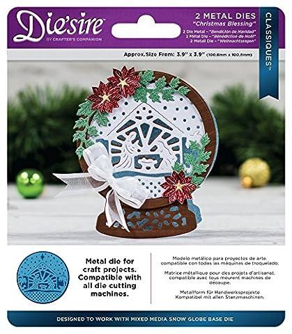 Die'sire Blessings Classiques Christmas Die, Metal, Silver, 15 x 13 x 0.5 cm