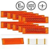 LED-MARTIN® 10er Sparset - Rückstrahler - Reflektor R1 - gelb/orange - mit Bohrung zur Festmontage...