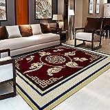 YU&AN Chinesischen Stil Teppich,Anti-Rutsch Wasserdicht Fußmatten Für Sofa Teetisch Bett Indoor Schlafzimmer-G 140x200cm(55x79inch)