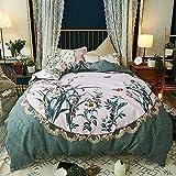 Lenzuola per la casa Biancheria da letto in cotone verde trapunte morbide a grandezza naturale stile classico orientale, verde, pieno