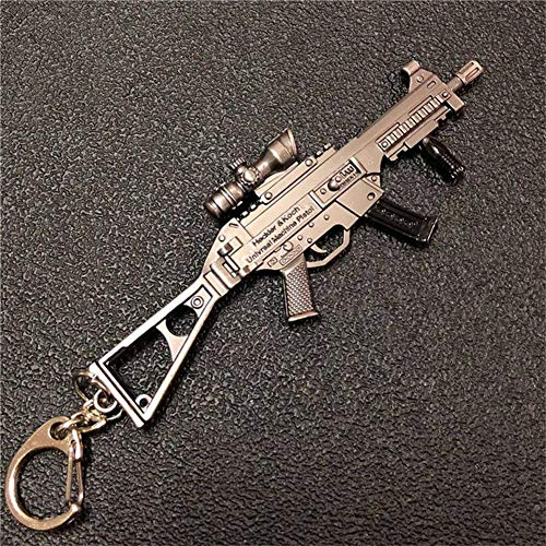 mougu8003 Pubg Llavero Juego Arma Metal 98K Gun AWM Colgante Hecho a Mano Ump9