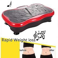 Qulista Fernbedienung Testsieger Profi 180 Levels Fitness Slim Vibrationsplatte | Musik | mit Bluetooth-Lautsprecher bis 150kg, Vibrationstrainer Vibro Shaper inkl. Trainingsbänder