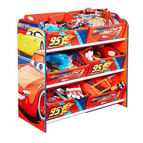 Familie24 Holz Spielzeugregal Auswahl Frozen Cars Minnie Maus Mickey Maus Winnie Pooh Kinderregal Organizer Regal (Cars) (Minnie Spielzeugkiste)