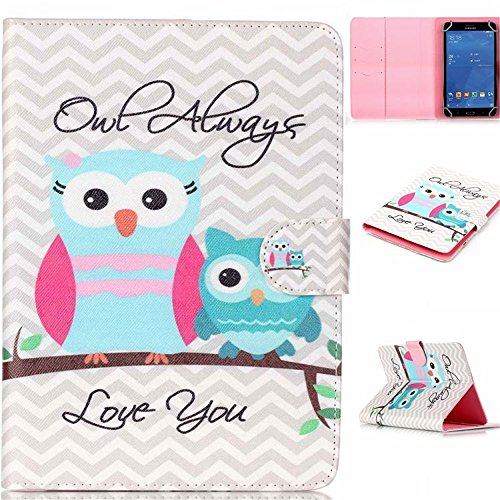7'' pulgadas Tablet Funda Cuero, Ultra Slim Smart Cover Book Case Funda para Alldaymall A88X Tablet de 7'' Pulgadas/Dragon Touch Y88X Plus Tablet de 7 Pulgadas/ASUS Nexus 7 (2013) Tablet de 7