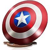 ZYER Los Vengadores Marvel Capitán América Disfraz de Metal Shield +Soporte de Madera Adulto Uno Tamaño 1: 1 Apoyos de Pelícu