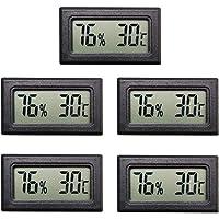Thlevel Mini LCD Termometri Igrometri Digitali Tester di Temperatura e Umidita  39  Interna  5 PCS