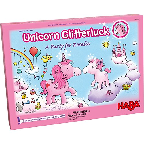 HABA Unicorn Glitterluck - A Party for Rosalie Cooperative Game for Ages 4+