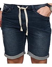 Sublevel Herren Jogg-Short kurze Jeans-Hose Sweat Bermuda