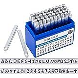BENECREAT 42PCS 3 mm Timbro in Metallo con Lettere e Numeri, Effetto Opaco Punzoni per Metallo, Acciaio al Carbonio, A-Z e 0-