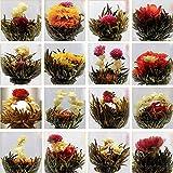 Blumentee Kunst die Blühung von Blumen 10 verschiedene Teeblumen Teebeutel in Packung