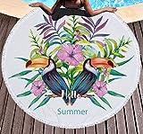 CHIPYHOME Toalla Playa Piscina Tucanes Novedad 2018 de Atractivos Colores Unisex Niñ@s y Adultos.Playa, Camping, Gimnasio, Picnic, Deportes, Ideal Regalo