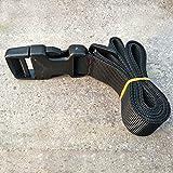 EMVANV Cinturón táctico de nailon para exteriores, color negro, hebilla, kits de supervivencia, cinta de tela, para hacer correas, cinturones y equipo militar, plug buckle