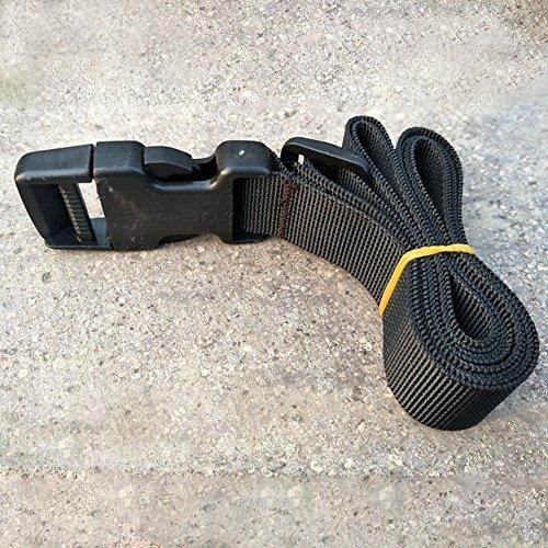 EMVANV Cinturón táctico de nailon para exteriores, color negro, hebilla, kits de...