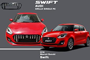 Auto Pearl - Premium Quality Car Chrome Front Audi Grill (Witout S Logo) For - Maruti Suzuki Swift 2018