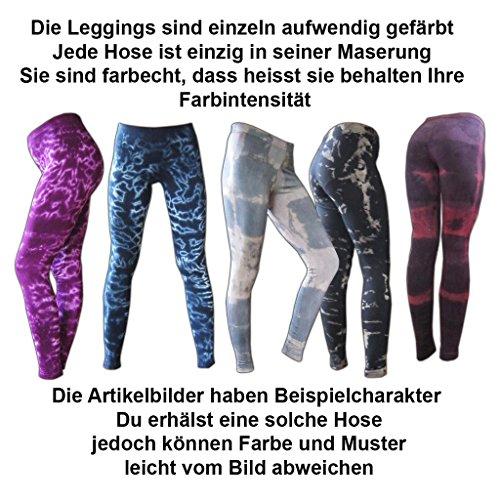 Panasiam® Legging, super weich & stretchy, knallig bunte Farben, Unisize passt M & L, TOP QUALITÄT, in vielen Styles !! bunt level