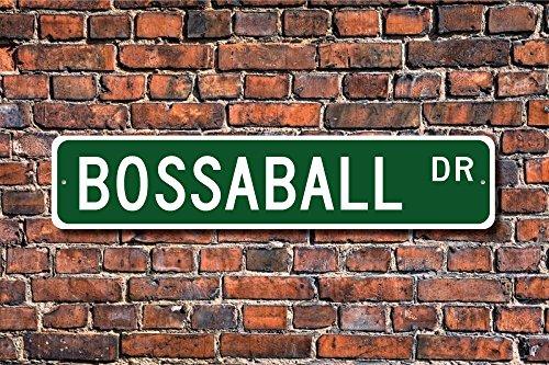 Aersing Metall Post Bossaball Schild Bossaball Fan Spanisch Spiel aufblasbar Ball Plakette Wandaufkleber Home Dekoration Street Schild (Spanisch Aufblasbarer Ball)