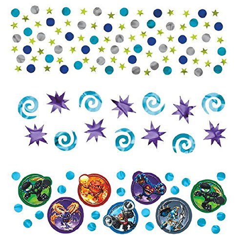 Amscan Skylanders Birthday Party Confetti Decoration Value Pack (1 Piece), 1.2 oz, Blue/Violet by Amscan