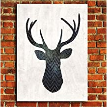 Box Prints Animal wildlife Stag Head Geometric Abstract art canvas print small large