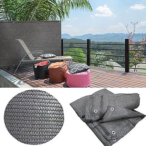 IDMarket - Brise vue gris 1 x 10 m 90gr/m² classique