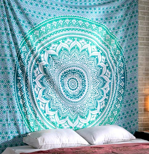 RAJRANG BRINGING RAJASTHAN TO YOU Tapices de Mandala Pared - Psychedelic Tapestry...