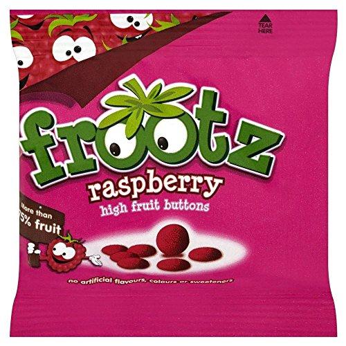 Frootz Framboise Haute fruits Boutons (18g) - Paquet de 6