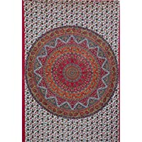 kesrie Mandala Stella Tapestry Wall Hanging Bohemian stile hippie luminoso e colorato casa accessori