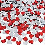 P Prettyia 30g Herzen Konfetti Streudeko Streuartikel Tischdeko für Hochzeit Valentinstag und Jubiläum - 3