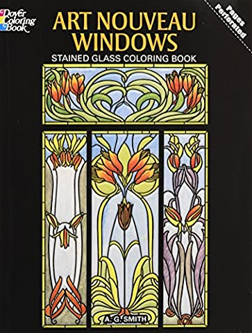 Art Nouveau Windows. : Stained Glass Coloring