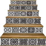 Y-step Lot de 6autocollants d'escalier étanches en vinyle de 17,8x 101,6cm...