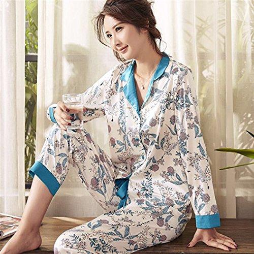 XBR Damen-Home Kleidung, die zwei Frauen 'S Home Kleidung getragen werden kann aus der Schlafanzüge, F, Grün