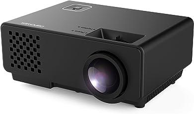 Beamer, DBPOWER RD810 Mini Beamer, Projektor, LED Beamer Unterstützung 1080P Mit Kostenlose HDMI/USB/VGA/AV/Laptop/ für Xbox/iPhone/Smartphone/PC/TV (Schwarz)