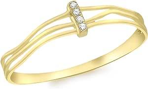Carissima Gold - Anello da Donna in Oro Giallo 375, 1000