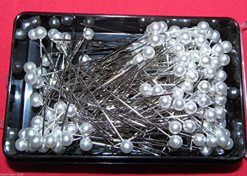 144-Dressmaking-Craft-Pearl-Headed-Pins-190-Box-Pearl
