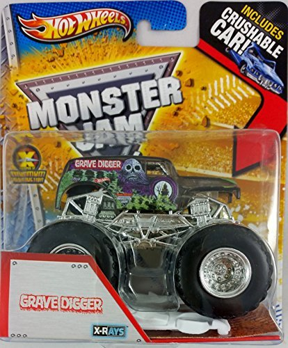Hot Wheels 2013 Monster Jam X-Rays GRAVE DIGGER (Includes Crushable Car) by Hot Wheels