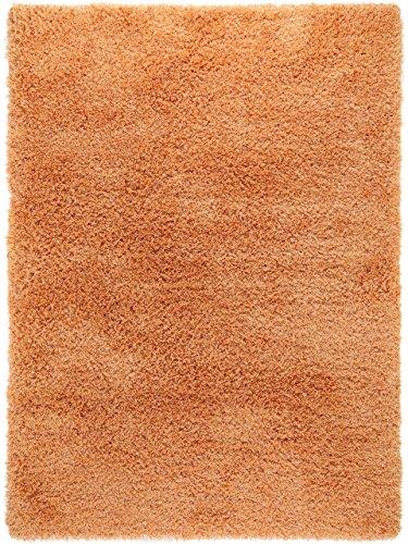 benuta Shaggy Hochflor Teppich Sophie Orange 60x115 cm | Langflor Teppich für Schlafzimmer und Wohnzimmer