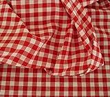 Vichy-Karo in Rot / Weiß Baumwoll-Stoff kariert -